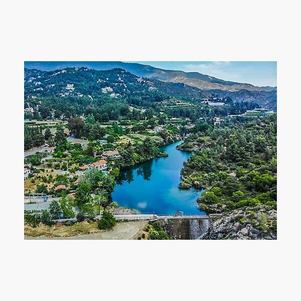 Dreamy view at Saittas Trimiklini Photographic Print
