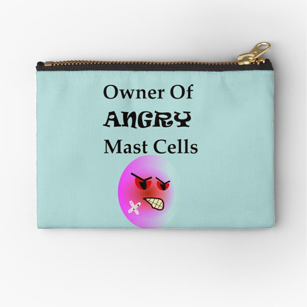 Owner of Angry Mast Cells Zipper Pouch