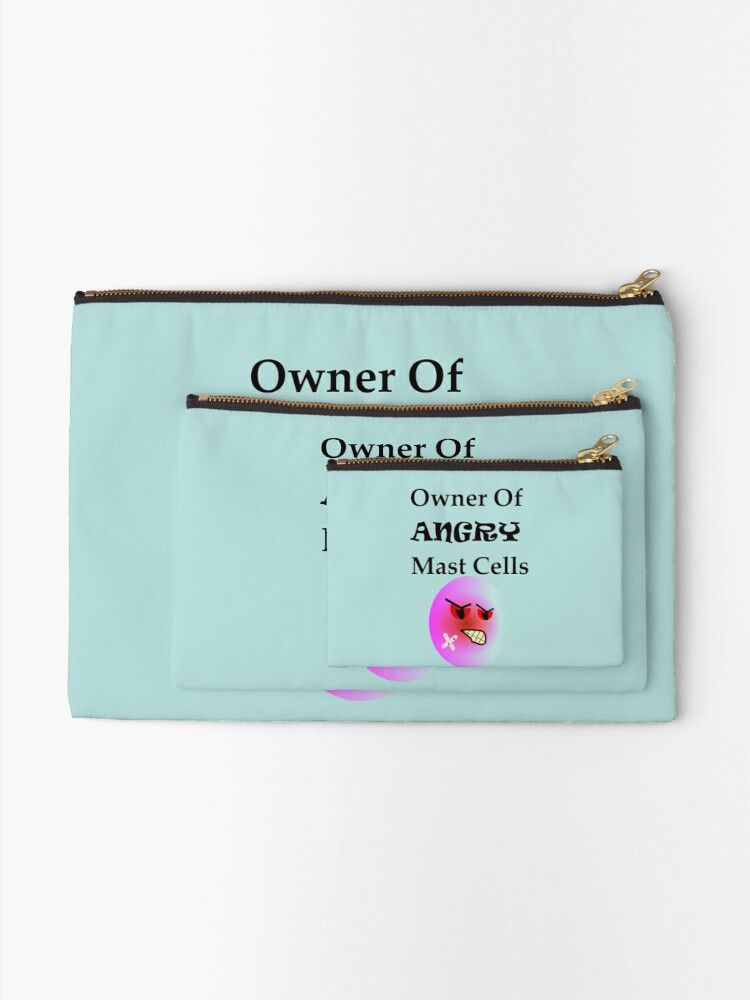 Alternate view of Owner of Angry Mast Cells Zipper Pouch