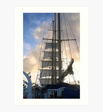 Square sails on Star Flyer Art Print