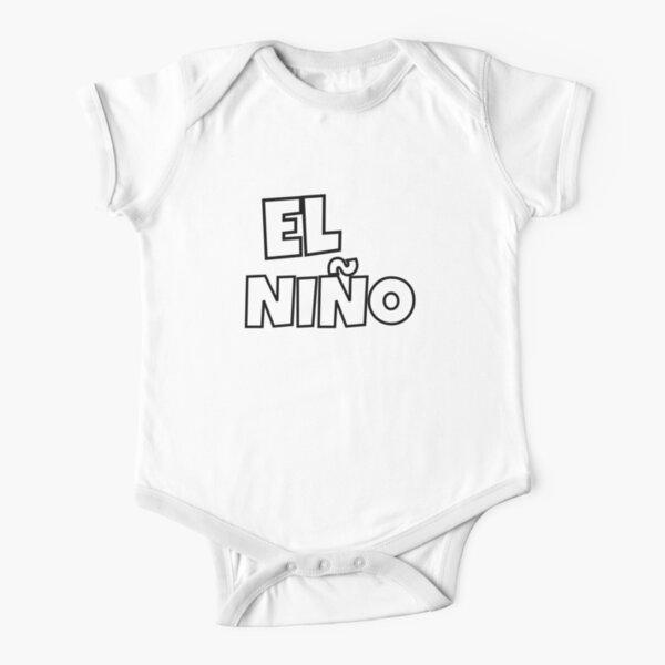 El Nino - Black Short Sleeve Baby One-Piece