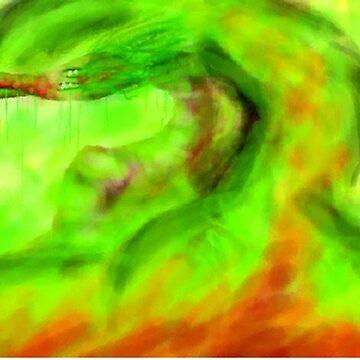 Dragon of burning Colors by BashsArt