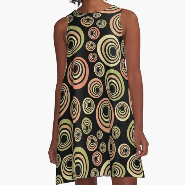 Groovige 60er Jahre A-Linien Kleid