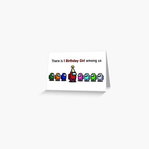 Among Us Birthday Girl Greeting Card
