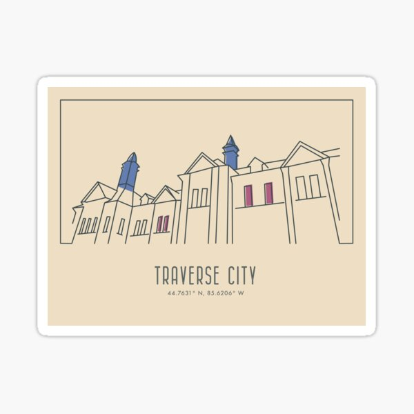 Traverse City, Michigan Sticker