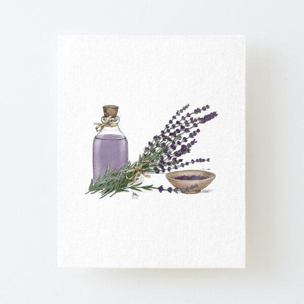 Lavender Aufgezogener Druck auf Leinwandkarton
