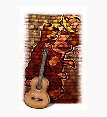 Donkey Kong & Guitar Photographic Print