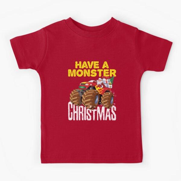 Monster Truck Christmas Kids T-Shirt