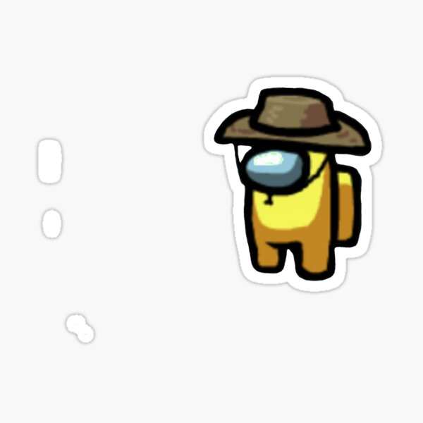 Among Us Character Yellow With Cowboy Hat AMONGAUS