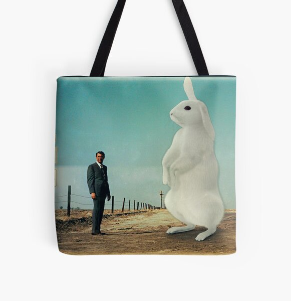 North By The Rabbit All Over Print Tote Bag