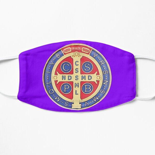 Macarilla Medalla de san Benito color morado Mascarilla