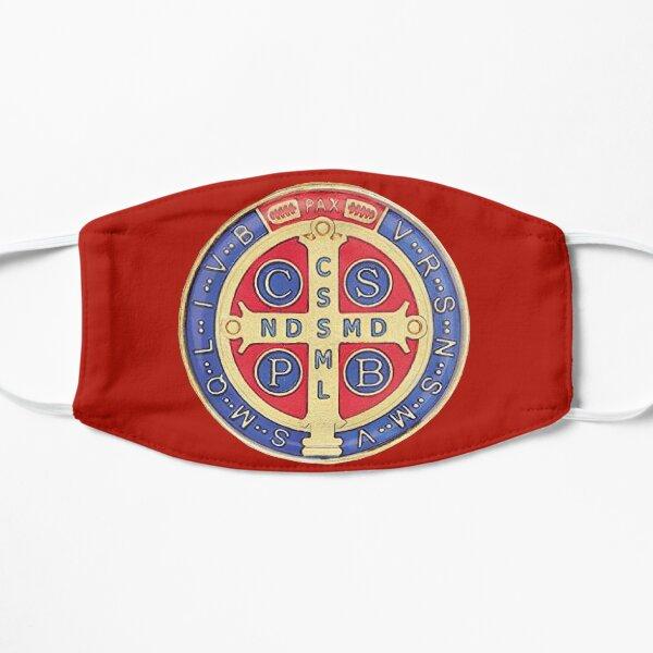 Macarilla Medalla de san Benito color rojo Mascarilla