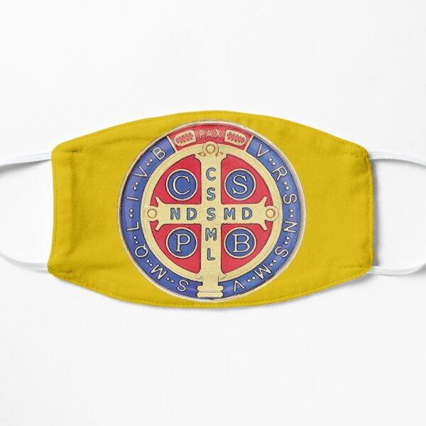 Mascarilla Medalla de San Benito amarilla Mascarilla