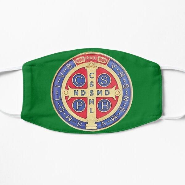 Mascarilla Medalla de San Benito verde Mascarilla