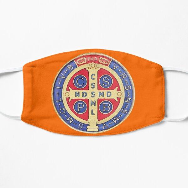 Mascarilla Medalla de San Benito naranja Mascarilla
