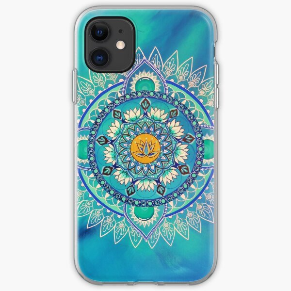 Intuitive painting mandala iPhone Soft Case
