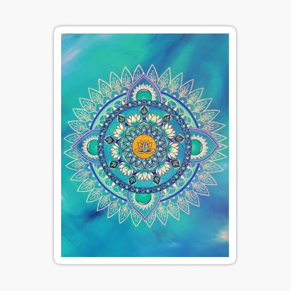 Intuitive painting mandala Sticker