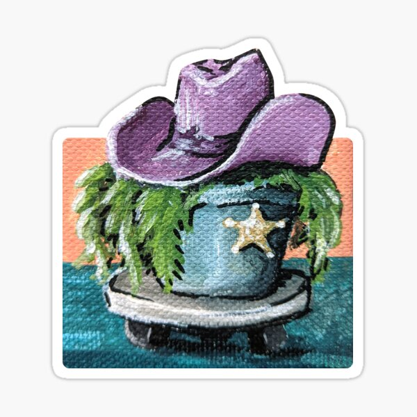 Cowboy Fern Sticker