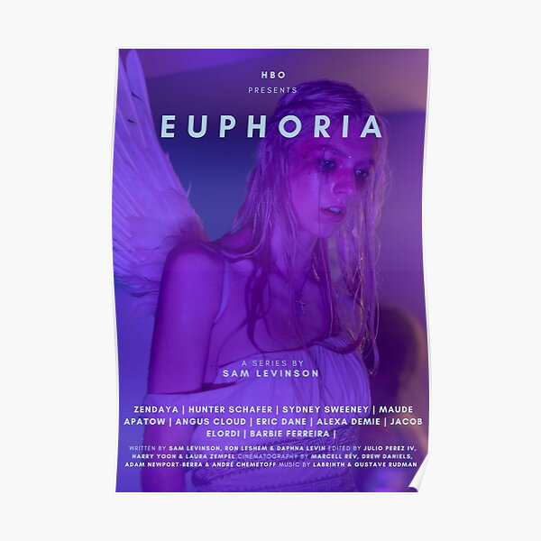 EUPHORIA HUNTER SCHAFER TV SHOW POSTER Poster