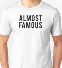 Almost Famous - Black Clean T-Shirt