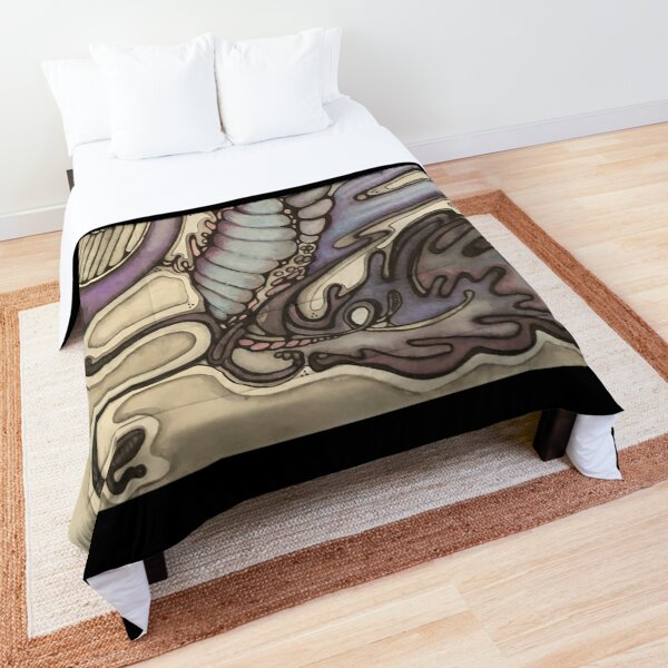 Purple Sea Koi Unicorn Dragon Comforter