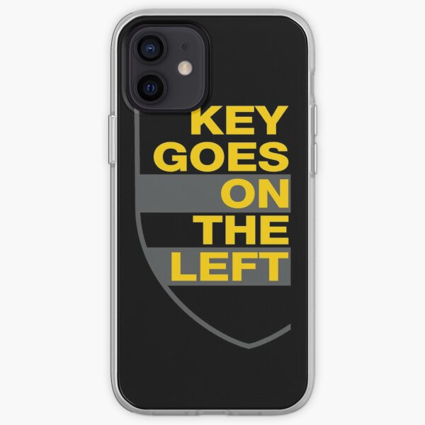 Key Goes On The Left - Yellow/Gray iPhone Soft Case