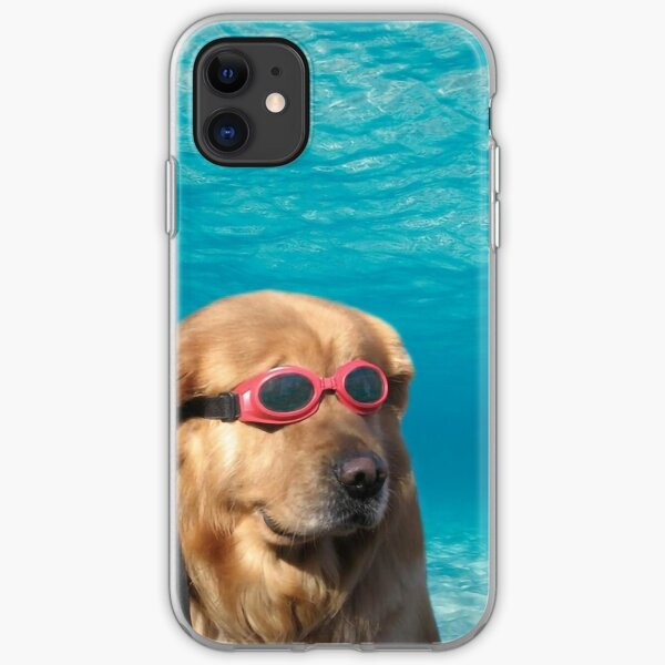 Swimmer Dog Poster iPhone Soft Case