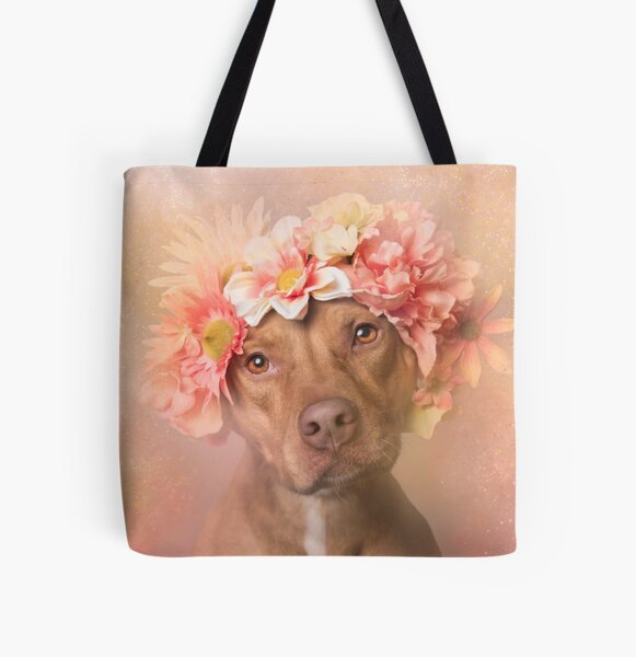 Flower Power, Una All Over Print Tote Bag