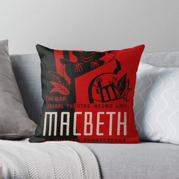 Shakespeare Macbeth Throw Pillow