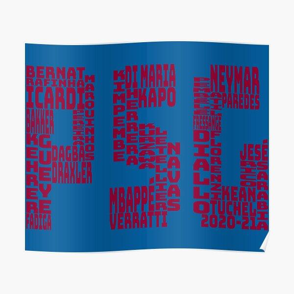Paris Saint-Germain 2020 - 2021 Poster