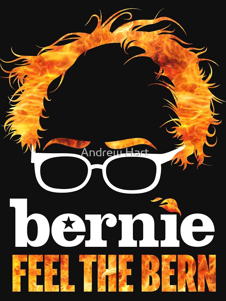 TShirtGifter presents: Flaming Bernie Shirt / Feel The Bern Shirt and Fundraising Gear | Unisex T-Shirt