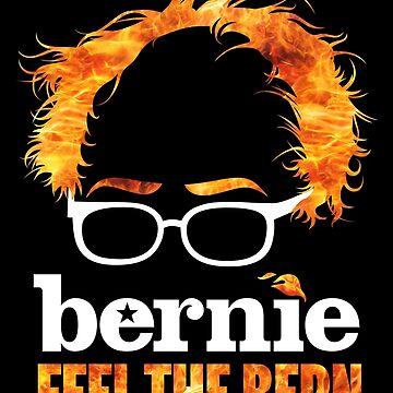Flaming Bernie Shirt / Feel The Bern Shirt y Fundraising Gear de AndrewHart