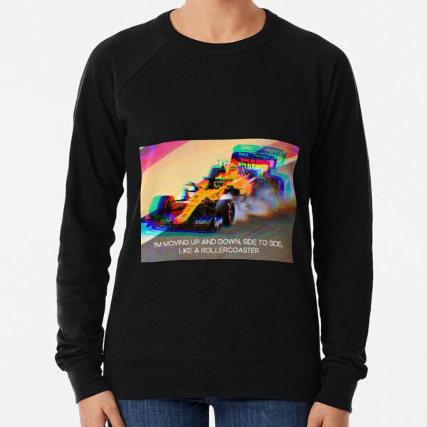 """Lando Norris: """"Up and down, side to side, like a rollercoaster"""" Lightweight Sweatshirt"""