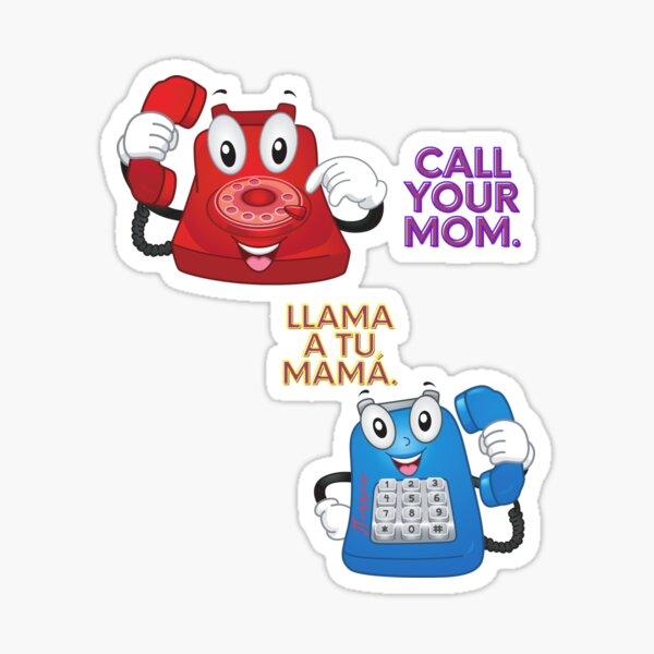 Call Mom Sticker