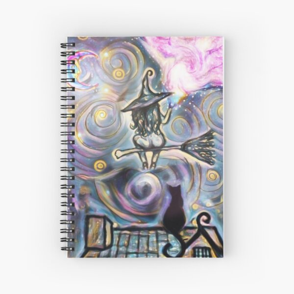 Witch in the night Spiral Notebook