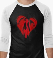 M - GRAFFITI HEART Men's Baseball ¾ T-Shirt