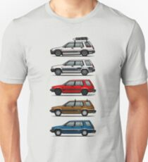 Stack Of Toyota Tercel Sr5 4wd Al25 Wagons T-Shirt