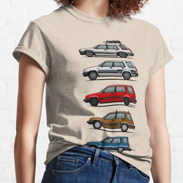 Stack Of Toyota Tercel Sr5 4wd Al25 Wagons Classic T-Shirt
