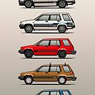 Stack Of Toyota Tercel Sr5 4wd Al25 Wagons by Tom Mayer