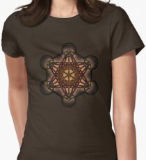 Metatron's Cube ~ Sacred Geometry Womens Fitted T-Shirt