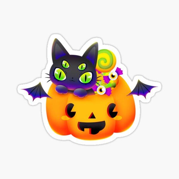 Trick-or-Treat Cat Sticker