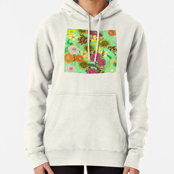 Beautiful Floral design Pullover Hoodie