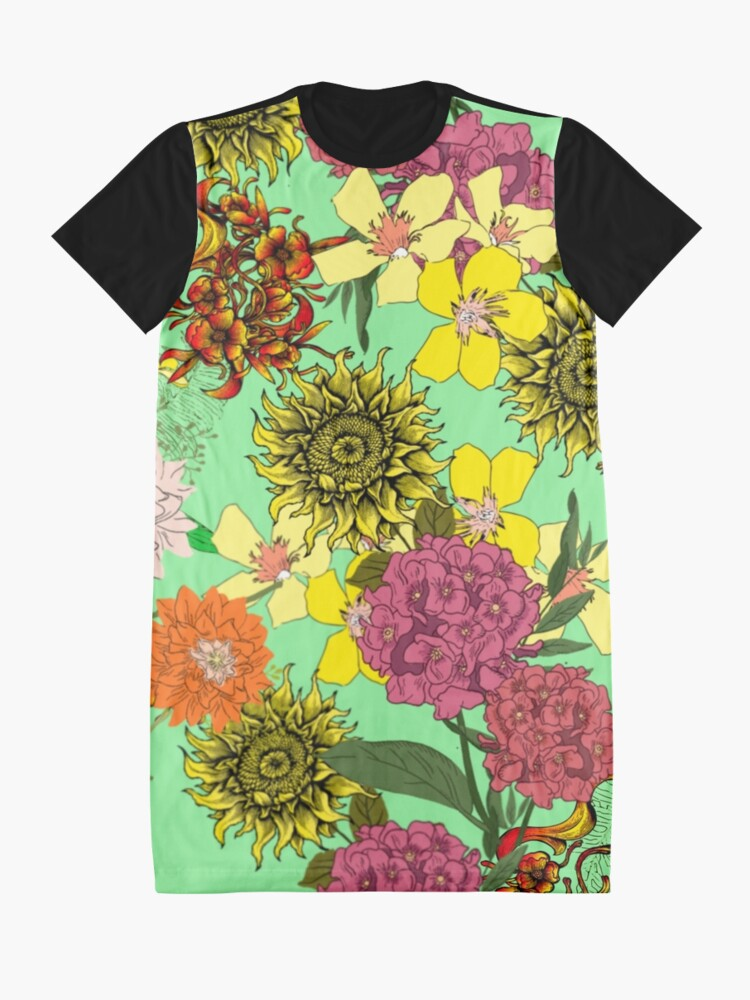 Alternate view of Beautiful Floral design Graphic T-Shirt Dress
