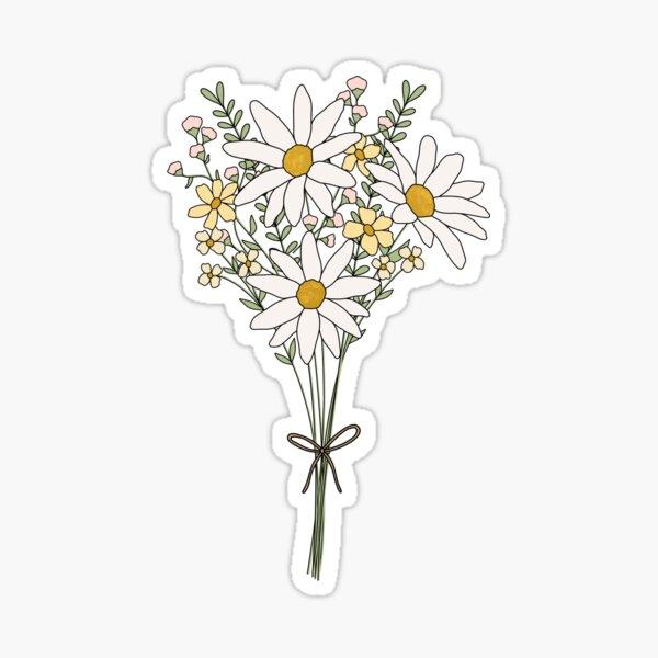 Wild Flower Bouquet Sticker