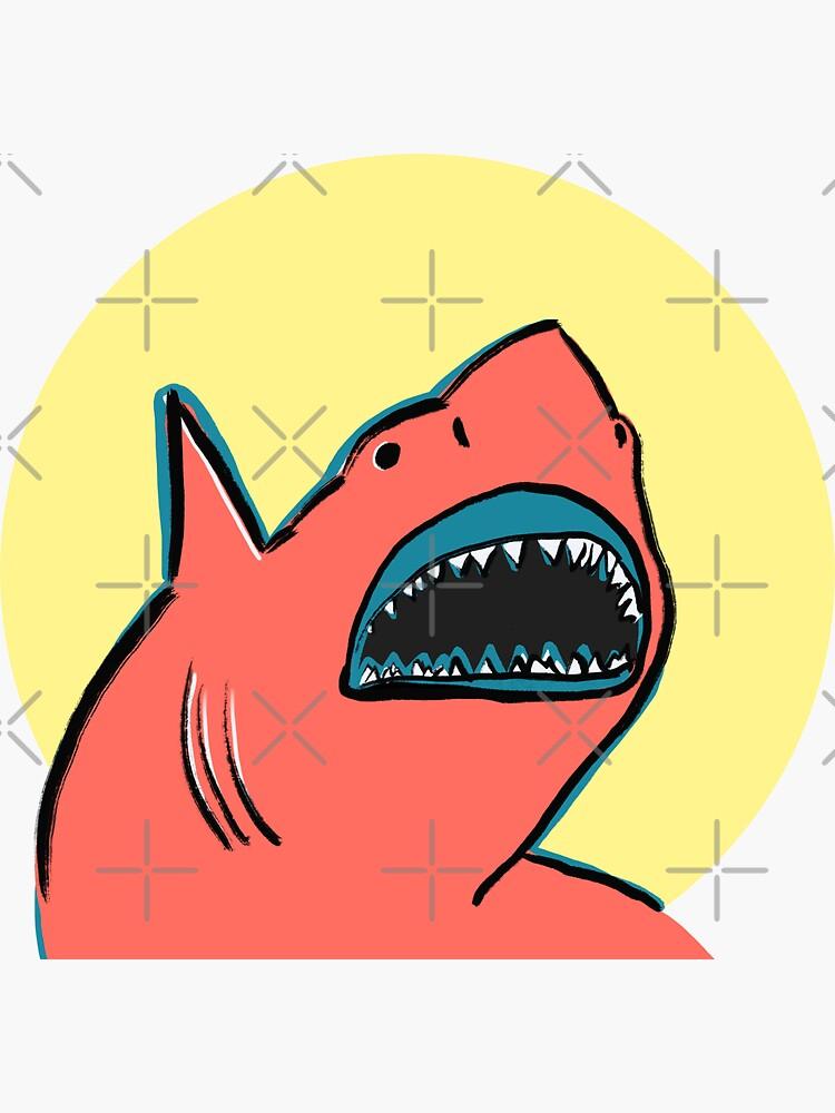Cute Shark Waving by witandwhimsey