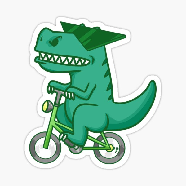Cool Dino Baby Bike Funny Sticker