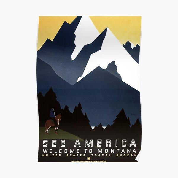 Vintage Travel Poster: Montana Poster
