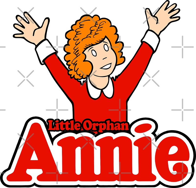 orphan annie stickers size small 3 1 x 3 0 medium 5 5 x 5 3 large 8 5