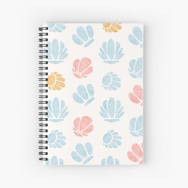 Beachy Pastel Seashells Minimalist Design Spiral Notebook