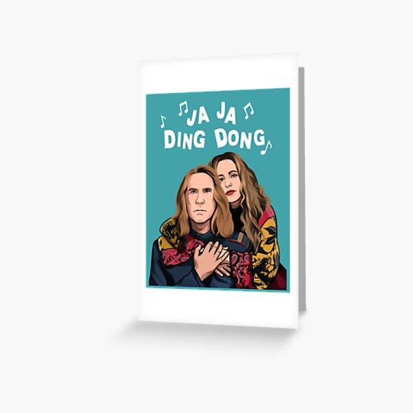 Eurovision Ja Ja Ding Dong Song Fire Saga Merch Netflix Greeting Card